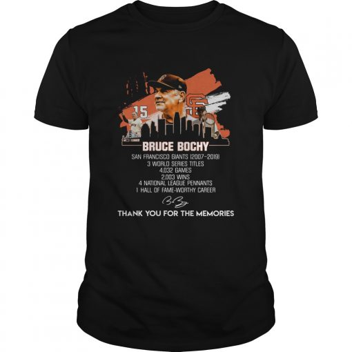 Bruce Bochy San Francisco Giants thank you for the memories  Unisex