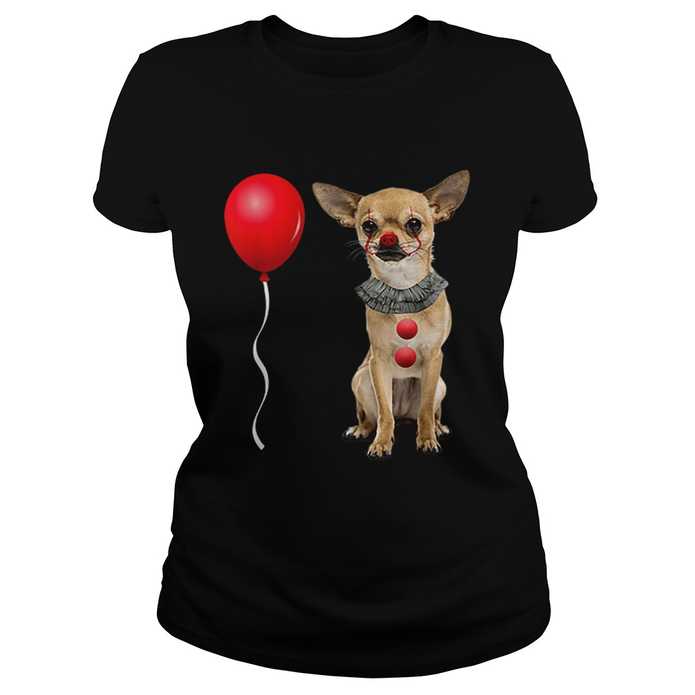 Chihuahua Scary Clown Funny Halloween Costume Gift Classic Ladies