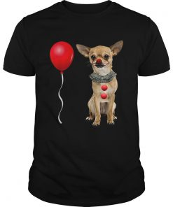 Chihuahua Scary Clown Funny Halloween Costume Gift  Unisex