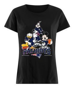 Donald Duck Goofy And Mickey Mouse New England Patriots Shirt Classic Women's T-shirt