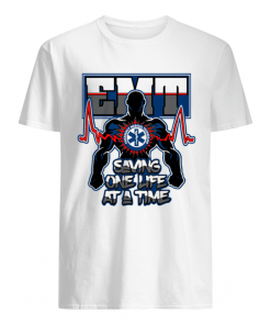 EMT Emergency Medical Technician Saving One Life at a time  Classic Men's T-shirt