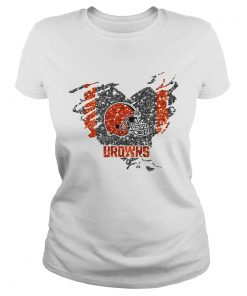 Heart Diamond Cleveland Browns  Classic Ladies