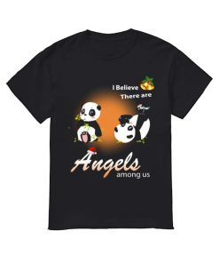 I believe There are angels among us Panda  Classic Men's T-shirt