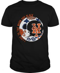New York Mets I love to the moon and black  Unisex