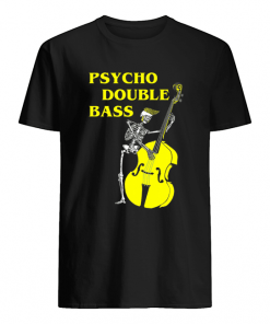 Psycho Double Bass Skeleton with Violin T  Classic Men's T-shirt