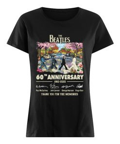 The Beatles Cross Abbey Road Under Blossom Tree 60th Anniversary Thank You For Memories Shirt Classic Women's T-shirt