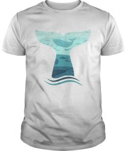 Whale Tail in Waves Orca Ocean Shirt Unisex