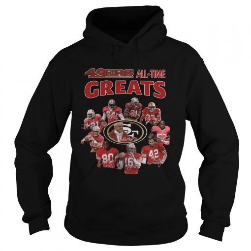49ers alltime greats San Francisco 49ers Players Signatures  Hoodie