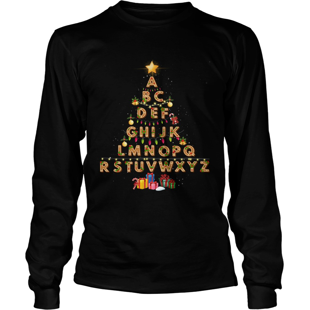 Alphabet Christmas Lights LongSleeve
