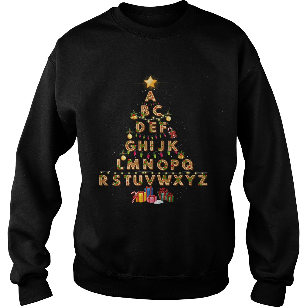 Alphabet Christmas Lights Sweatshirt