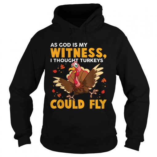 As God Is My Witness I Thought Turkeys Could Fly Funny Gift  Hoodie