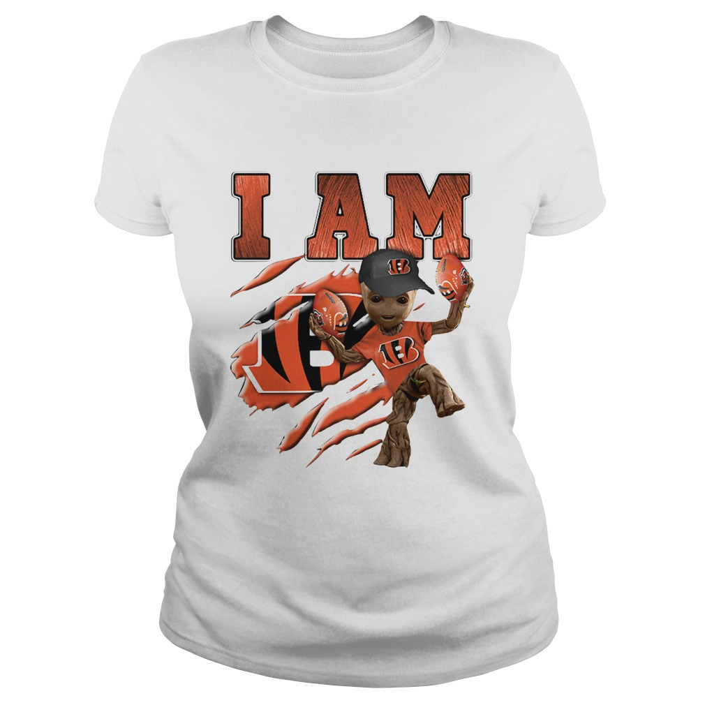 Baby Groot I Am Cincinnati Bengals Classic Ladies