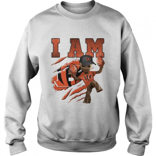 Baby Groot I Am Cincinnati Bengals  Sweatshirt