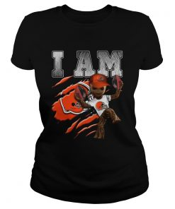 Baby Groot I Am Cleveland Browns  Classic Ladies
