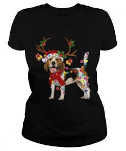 Beagle Gorgeous Reindeer Crewneck Christmas  Classic Ladies
