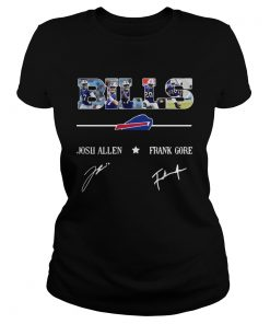 Buffalo Bills Josh Allen Frank Gore signatures  Classic Ladies