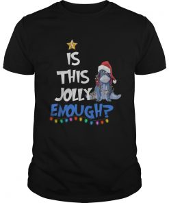 Eeyore Is this Jolly enough Christmas light  Unisex