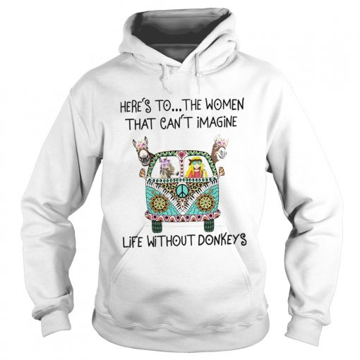 Heres To The Women That Cant Imagine Life Without Donkeys  Hoodie