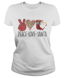 Hippie Peace Love Santa Claus Christmas  Classic Ladies