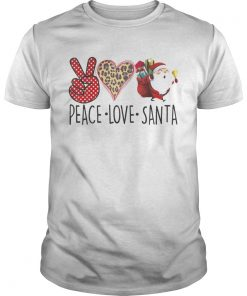 Hippie Peace Love Santa Claus Christmas  Unisex