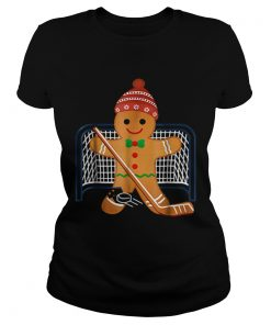Hot Hockey Goalie Funny Christmas Gingerbread Man Goalie  Classic Ladies