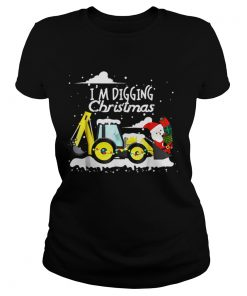 Hot Im Digging Christmas Funny Santa Christmas Gifts  Classic Ladies