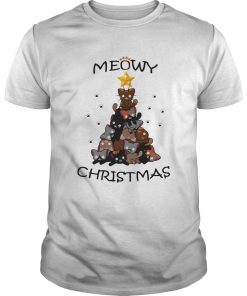 Meowy Christmas Tree Cute Merry Xmas  Unisex