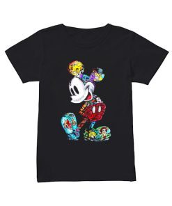 Mickey Mouse Tattoos Disney All Characters  Classic Women's T-shirt