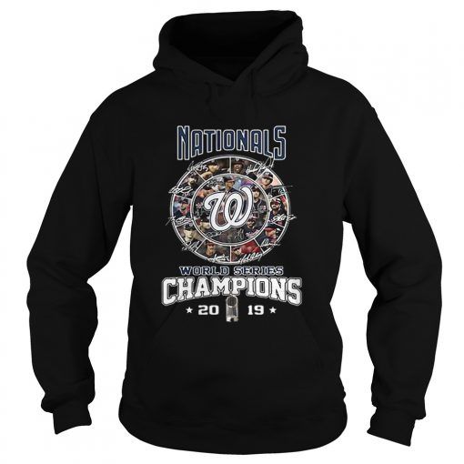 Nationals Signatures World Series Champions 2019  Hoodie