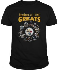 Pittsburgh Steelers AllTime Greats Players Signatures  Unisex