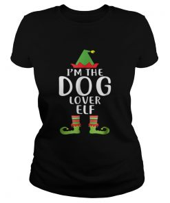 Pretty Im The Dog Lover Elf Matching Family Group Christmas  Classic Ladies