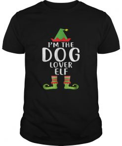 Pretty Im The Dog Lover Elf Matching Family Group Christmas  Unisex