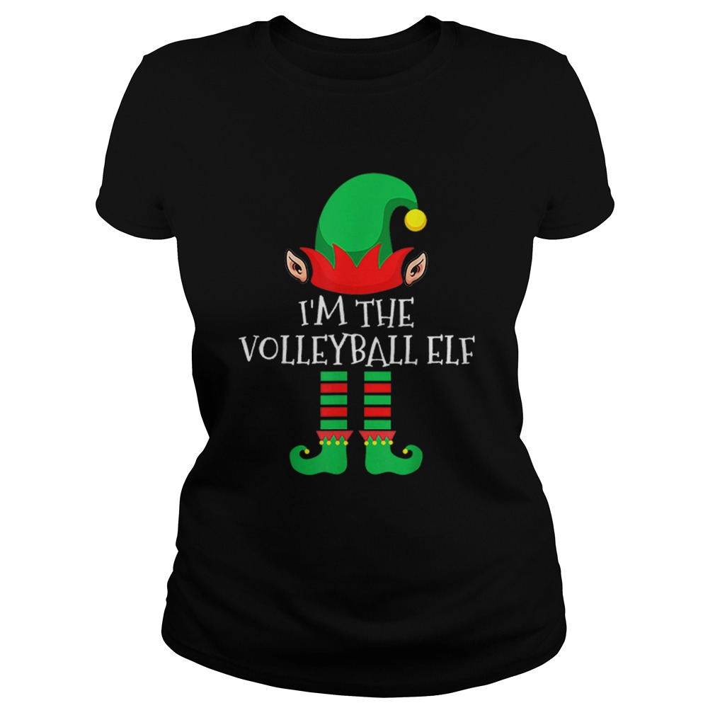 The Volleyball Elf Family Matching Group Christmas Classic Ladies