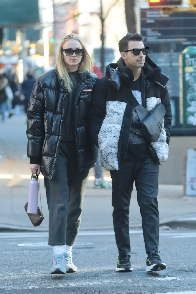 Joe Jonas and Sophie Turner Sport Chunky Sneakers in NYC
