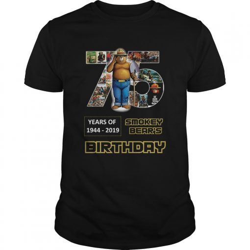1575946983Pretty 75 Years Of Smokey Bear 1944-2019 Birthday  Unisex