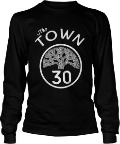 30 Stephen Curry The Town Blue Golden State Warriors  LongSleeve