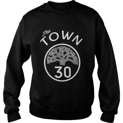 30 Stephen Curry The Town Blue Golden State Warriors  Sweatshirt