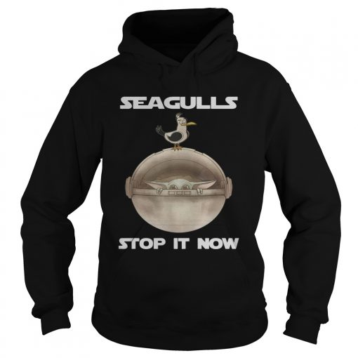Baby Yoda Seagulls Stop It Now  Hoodie