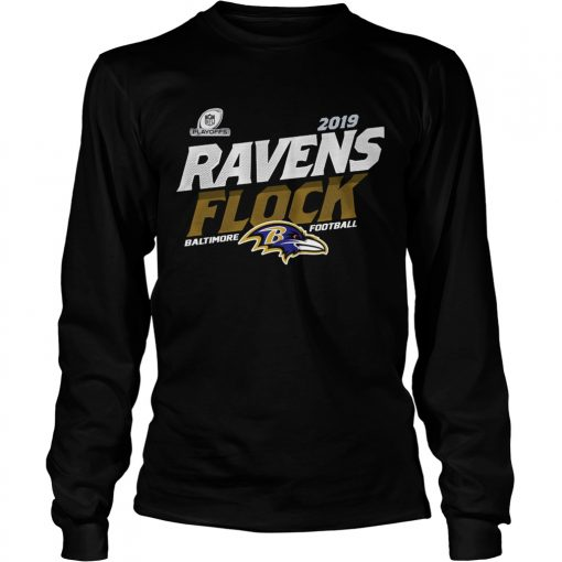 Baltimore Ravens Football Flock 2019 NFL Playoffs  LongSleeve