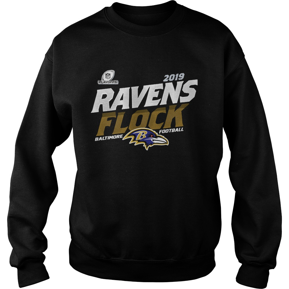 Baltimore Ravens Football Flock 2019 NFL Playoffs Sweatshirt