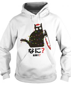 Black Cat Santa Knife Nani Christmas  Hoodie