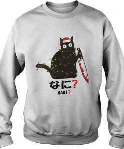 Black Cat Santa Knife Nani Christmas  Sweatshirt