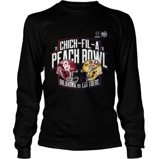 Chick Fil A Peach Bowl LSU Tigers vs Oklahoma Sooners Football Playoff 2019  LongSleeve