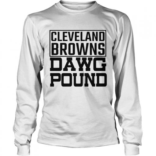 Cleveland Browns Freddie Kitchens Dawg Pound  LongSleeve