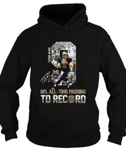 Drew Brees 540 NFL AllTime Passing TD Record Signature  Hoodie