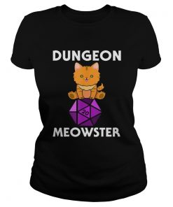 Dungeon Meowster Nerdy Cat D20  Classic Ladies
