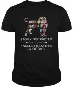 Easily Distracted By English Mastiffs And Books  Unisex