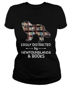 Easily Distracted By Newfoundlands And Books  Classic Ladies