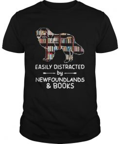 Easily Distracted By Newfoundlands And Books  Unisex