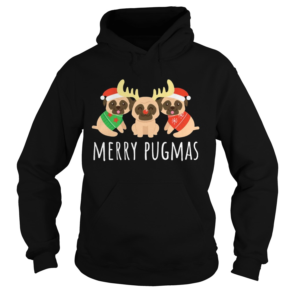 Merry Pugmas Pug Dog Ugly Christmas Hoodie